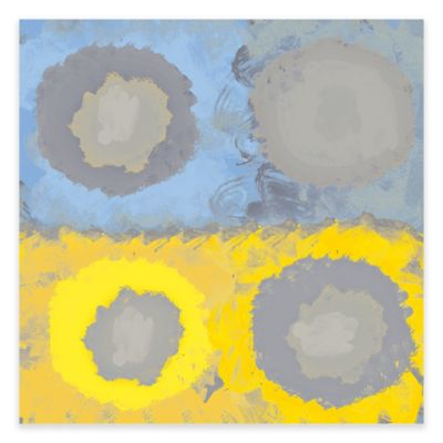 Orbital Yellow Square I Canvas Wall Art
