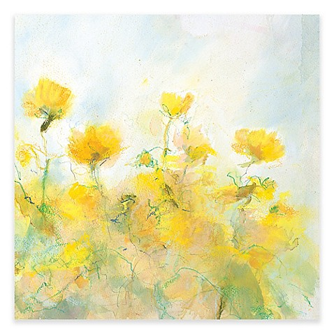 Yellow Flowers Canvas Wall Art Bed Bath Amp Beyond