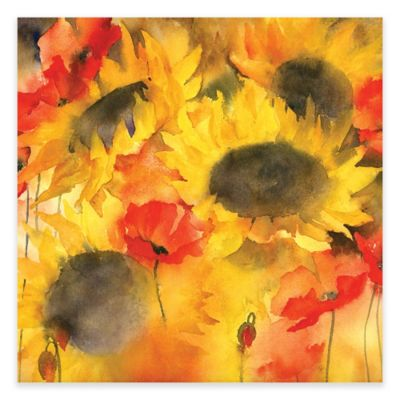 Sunflower and Poppies Iores Canvas Wall Art
