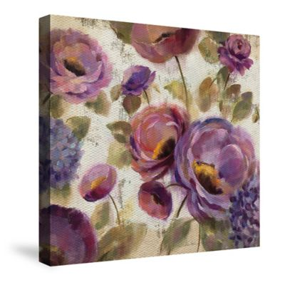 Laural Home® Blue and Purple Flower Song Canvas Wall Art
