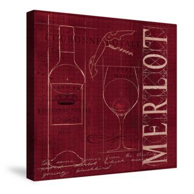 Laural Home® Wine Blueprint Merlot Canvas Wall Art
