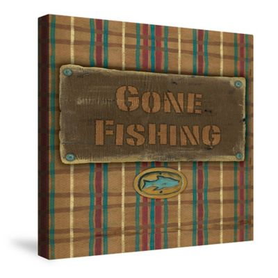 """Laural Home® """"Gone Fishing"""" Canvas Wall Art"""