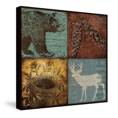 Laural Home® Lodge Patchwork Canvas Wall Art