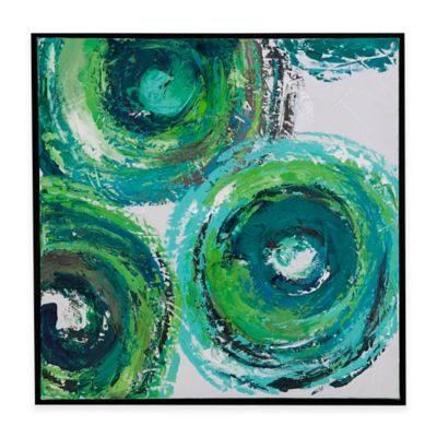 Bassett Mirror Company Modern Circles Wall Art in Green (Set of 4)