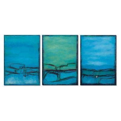 Bassett Mirror Company 3-Panel Over The Bridge Canvas Wall Art