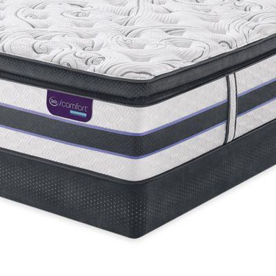 Serta® iComfort HYBRID HB700Q SmartSupport Super Pillow Top Low Profile Cal King Mattress Set