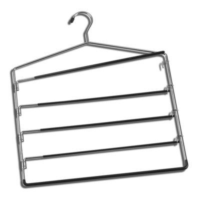 Chrome 5-Tier Swing-Arm Trouser Hanger
