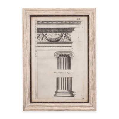 Bassett Mirror Company Ancient Architecture II Framed Wall Art