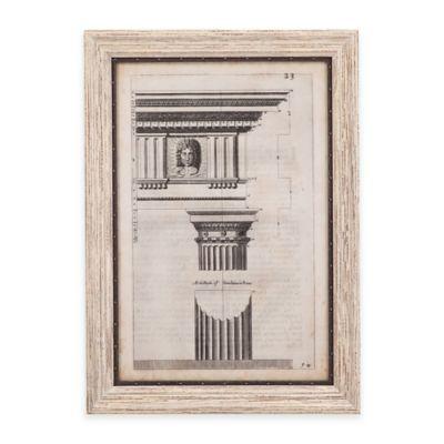 Bassett Mirror Company Ancient Architecture I Framed Wall Art