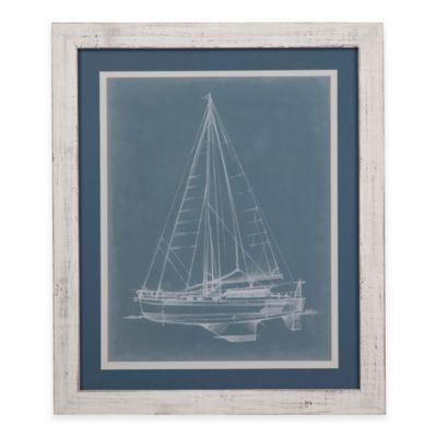 Bassett Mirror Company Yacht Sketches I Framed Wall Art