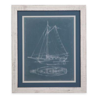 Bassett Mirror Company Yacht Sketches IV Framed Wall Art