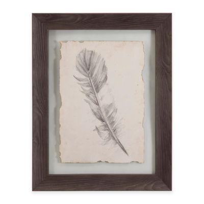 Bassett Mirror Company Feather Sketch I Framed Wall Art