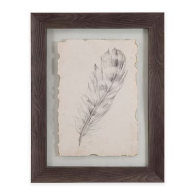 Bassett Mirror Company Feather Sketch II Framed Wall Art