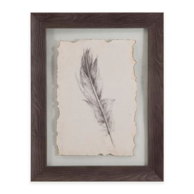 Bassett Mirror Company Feather Sketch IV Framed Wall Art