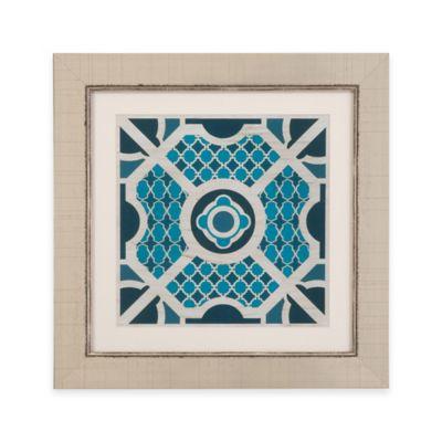 Bassett Mirror Company Indigo Lattice II Framed Wall Art