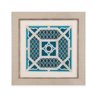 Bassett Mirror Company Indigo Lattice IV Framed Wall Art