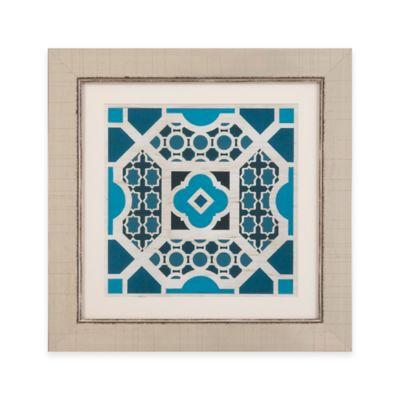 Bassett Mirror Company Indigo Lattice V Framed Wall Art