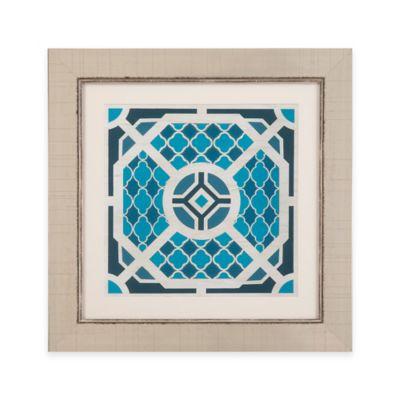 Bassett Mirror Company Indigo Lattice VII Framed Wall Art