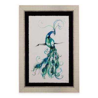 Bassett Mirror Company Aquarelle Peacock I Framed Wall Art