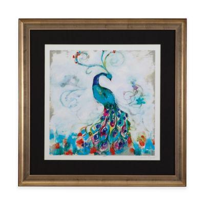 Bassett Mirror Company Confetti Peacock I Framed Wall Art