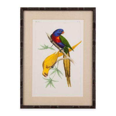 Bassett Mirror Company Lemaire Parrots IV Framed Wall Art