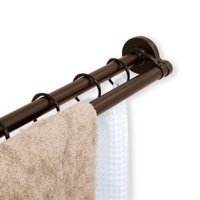 TITAN™ NeverRust™ Aluminum Double Straight Shower Rod in Bronze