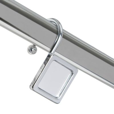 Mirror Decorative Metal Shower Curtain Hooks in Chrome (Set of 12)