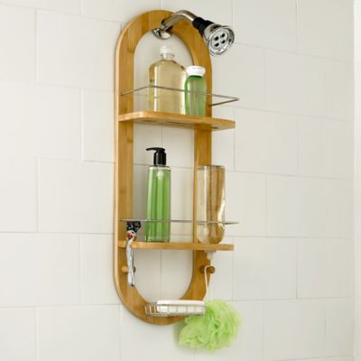 Excell Bamboo Shower Caddy in Natural