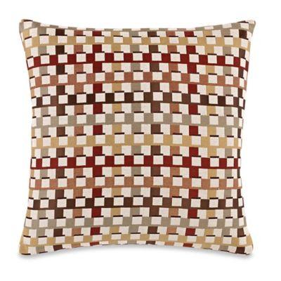 Make-Your-Own-Pillow Crisscross Throw Pillow Cover in Burgundy/Gold