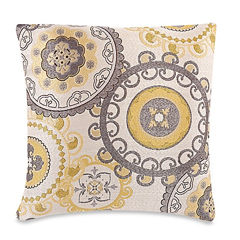 Buy Make-Your-Own-Pillow Equinox Throw Pillow Cover in Yellow/Grey from Bed Bath & Beyond