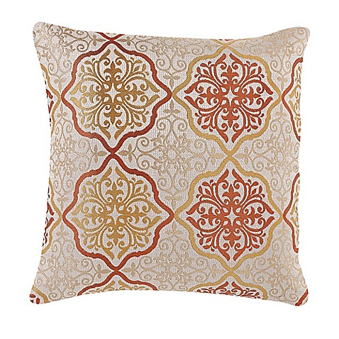 Buy Make-Your-Own-Pillow Omnia Throw Pillow Cover in Orange/Gold from Bed Bath & Beyond