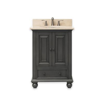 Avanity Thompson 25-Inch Single Vanity with Marble Top in Charcoal/Galala Beige