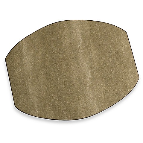 Shagreen Ellipse Placemat in Taupe