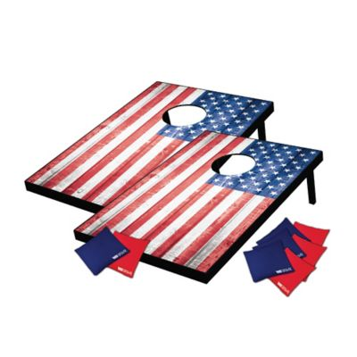 Wild Sports American Flag Bean Bag Toss Cornhole Game