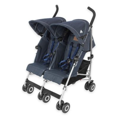 Maclaren® Twin Triumph Double Stroller in Denim