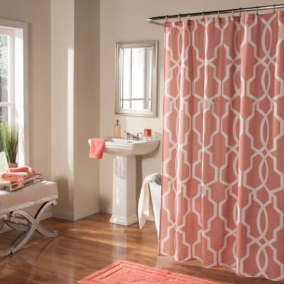 m. style Linea Shower Curtain in Grey
