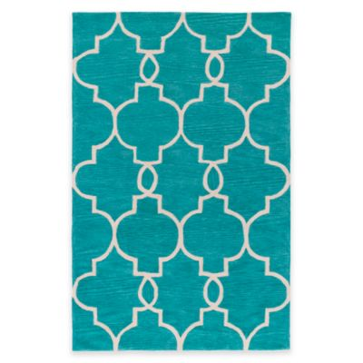 Artistic Weavers Holden Mattie 5-Foot x 7-Foot 6-Inch Area Rug in Teal/Ivory