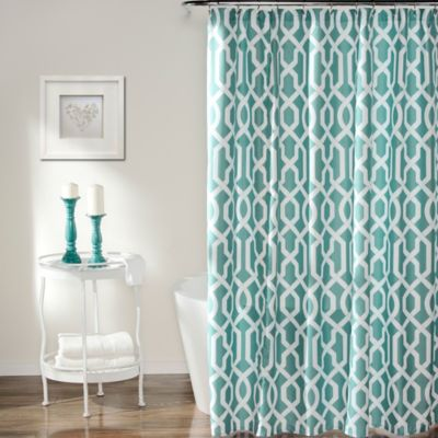 Edward Trellis Shower Curtain in Taupe