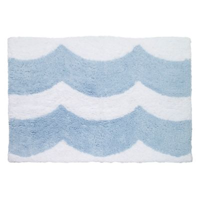Avanti Wave 30-Inch x 20-Inch Bath Rug in Blue