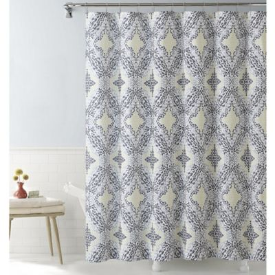 VCNY Connell Shower Curtain in Yellow/Grey