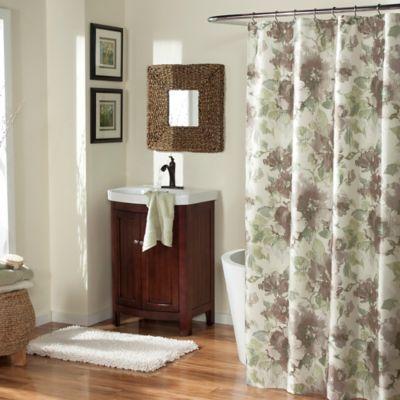 Floral Bath Curtains