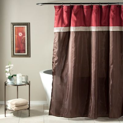 Red and Brown Shower Curtains