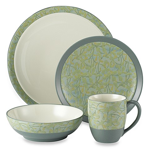 Elements Flora 4-Piece Dinnerware by Noritake