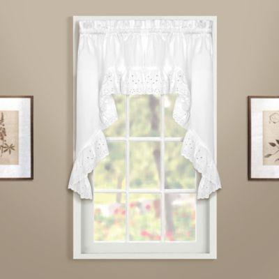 Vienna Swag Window Curtain Valance in White