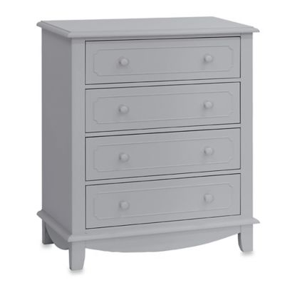 Million Dollar Baby Sullivan Four-Drawer Tall Dresser in Grey
