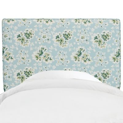 Skyline Furniture Aubrey Full Headboard in Cecilia Sea Green