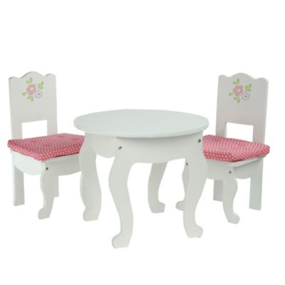 Olivia's Little World Little Princess Doll Furniture 18-Inch Doll Table and 2 Chairs Set