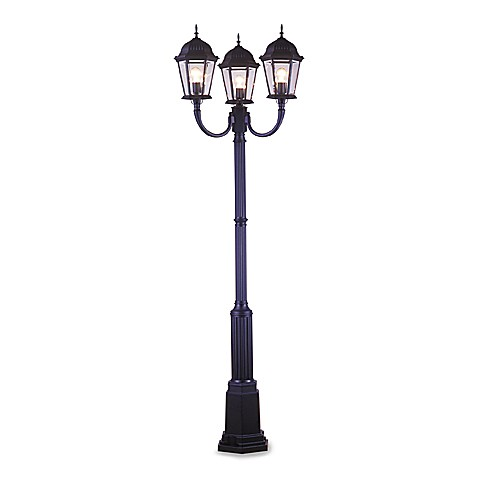 Three Light Post Lamp