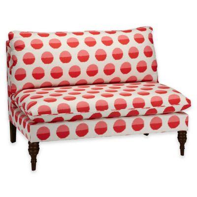 Skyline Furniture Juliana Armless Loveseat in Margot Flamingo