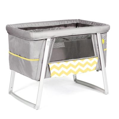 babyhome® Air Bassinet Chevron in Yellow/Grey